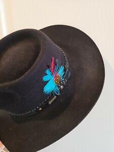 Akubra Snowy River Fur Pelt hat size 55.
