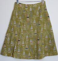 New White Stuff Skarta Print Reversible Skirt  - Size 6 - 16
