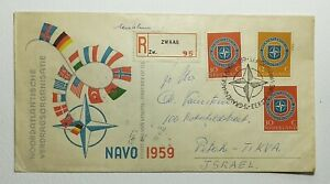 1959 FDC Netherlands 'NAVO 1959' SG875  & SG876 FDC - 10th Anniversary of NATO