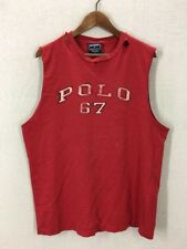 Vintage Polo Sport RL 67 Spell Out Distressed Muscle TShirt Large