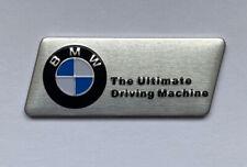 BMW The Ultimate DrivingMachine Emblem Aufkleber Sticker 4,1cm x 1,6cm Aluminium