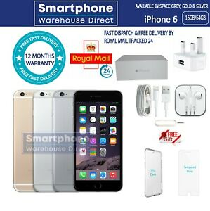 NEW APPLE iPHONE 6  64GB FACTORY UNLOCKED & SEALED 12M WARRANTY TOP UK SELLER