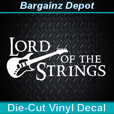 Vinyl Decal.. LORD OF THE STRINGS... Guitar Rings Sticker Car Laptop Vinyl Decal