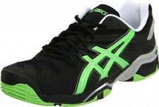 ASICS Mens Gel Resolution 4 Tennis Shoes Black Green - Size 11 - Brand New