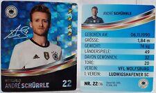 REWE Fussball EM 2016 EURO Sammelkarte - GLITZER Nr. 22 Andre SCHÜRRLE