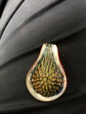 fine art glass pendant handblown glass implosion design heady jewelry