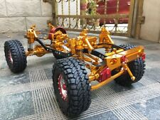 High-End Fully alloy CNC Metal SCX10 ROCK CRAWLER 1:10 Scale RC Truck golden