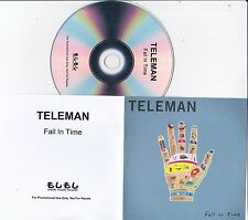 TELEMAN FALL IN TIME RARE 1 TRACK PROMO CD