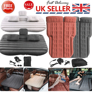 Inflatable Car Air Bed Mattress Back Seat Cushion w/ Pillows For Travel Camping