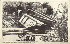 Montreal - RR Train Wreck 1938 Hurricane Postcard