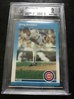 1987 Fleer GLOSSY Update Greg Maddux ROOKIE  #U-68 PSA 9  MINT Braves Cubs HOF