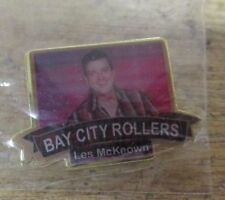 LES MCKEOWN BAY CITY ROLLERS GLAM ROCK COLOURED BRAND NEW EITHER BADGE