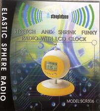 STEEPLETONE STRETCH AND SHRINK FUNKY RADIO SCR306 ALARM CLOCK FM RADIO  ** RED *