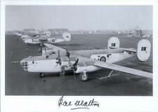 AA1 B-24 WWII RAF Liberator photo hand signed WW2 Walton MC AFC TD