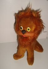 TRES ANCIENNE PELUCHE LION RETRO VINTAGE PLUSH (23x13cm)