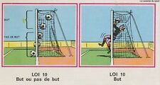 N°401 LES LOIS DU JEU # LOI 10 VIGNETTE PANINI FOOTBALL 77 STICKER 1977