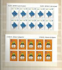 Kosovo KFOR NATO Kleinbögen 18 und 19 postfrisch