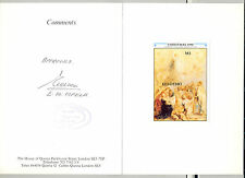 Lesotho #804 Christmas, Rubens, Art 1v S/S Imperf Proof Mounted in Folder