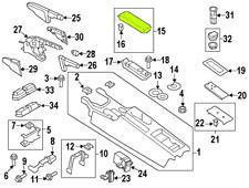 Audi TT 08 - 15 OEM Center Console Armrest 8J0864209XBP Silver GENUINE