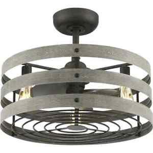 progress lighting gulliver 23'' led indoor/outdoor ceiling fan w/light & Remote