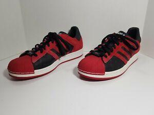 Adidas Super Star Chicago Bulls Red Black  014174 Sz 10 1/2