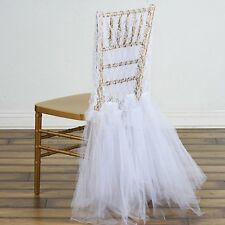 White Bridal Wedding Party Lace And Tulle Tutu Chair Covers Dinner Slipcover