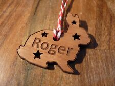 Personalised Rabbit Christmas Tree Decoration | Bunny Xmas Bauble Gift
