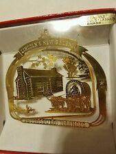 Lincoln's New Salem Petersburg Illinois Brass Christmas Ornament