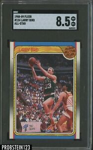 1988-89 Fleer Basketball #124 All Star Larry Bird Boston Celtics HOF SGC 8.5