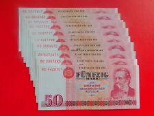 DDR Konvolut Geldscheine 10 x 50 Mark 1971 fast bankfrisch 👌100% Original (DD4