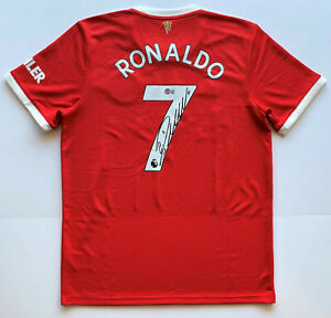 Cristiano Ronaldo Autographed Manchester United Jersey signed soccer Beckett BAS