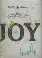 NEW YORK TIMES SPECIAL SECTION MAY 24, 2020 JOY ON THE COVER