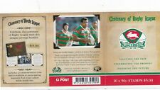 Australia stamp booklet - Centenary of Rugby League - RABBITOHS...Fast Post