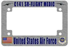 C-141 Starlifter Sr-Flight Medic Motorcycle License Plate Frame