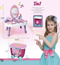 2 In 1 Pretend Play Cosmetic and Makeup Toy Set Kit for Little Girls & Kids
