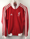 Liverpool Football Club Red Tracksuit Top Vintage Retro Style  XS Extra Small