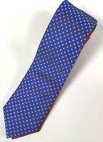 Tommy Hilfiger Men's Neck Tie Red White Blue Stars 100% Silk NWT MSRP $79