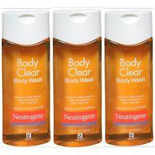Neutrogena Body Clear Body Wash 8.5 oz ea. Salicylic Acid Acne Trtmt (Pack of 3)