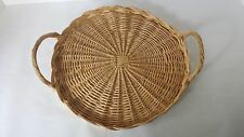 """Wicker Basket Tray with Handles 11 1/2"""""""