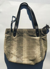 ed0d9be5a0 Vintage Ralph Lauren Snake Skin Bag Tote Purse Leather