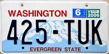 Washington EVERGREEN STATE License Plate