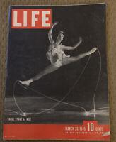 Life Magazine - March 26, 1945 - Carol Lynne, WWII, Great Ads