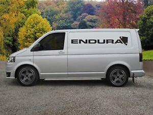 Huge Endura Bikes Van Vinyl Sticker Decal x 2