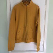 American Apparel Yellow Zip Up Track Top style Sweatshirt