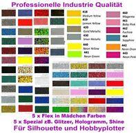 10x DIN A4 Flexfolie Mädchen Glitzer pink Effekt für Silhouette Plotter Textil