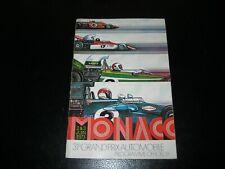 RARE SIGNÉ MANUEL FANGIO MOSS CHIRON Ancien PROGRAMME GRAND-PRIX MONACO F1 1973