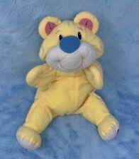 Fisher Price Yellow Rumple Bear blue nose Stuffed animal