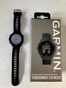 Garmin Forerunner 245 Music Black GPS Watch multisport VGC