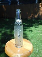 Vintage Tab Glass Soda Bottle White Stars 10 Oz Crown Top Coca-Cola Product 70's