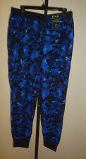 NEW POLO RALPH LAUREN MEN'S SLEEPWEAR THERMAL JOGGER PANTS CAMO BLUE SIZE XL